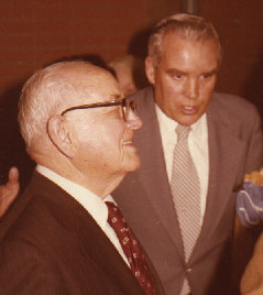 pres. Marsh with Pres. Kimball. Pres. Marsh was the Caracas Venezuela Mission President.
