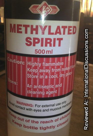 V & S Methylated Spirit Trinidad